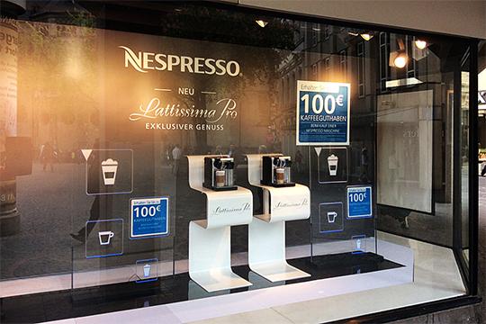 Visual Merchandising: Schaufenstergestaltung für Nespresso